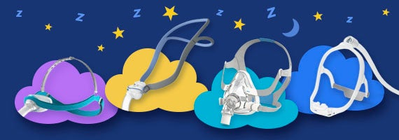 Montage of top cpap masks.