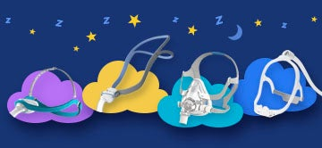 Montage of cpap masks.