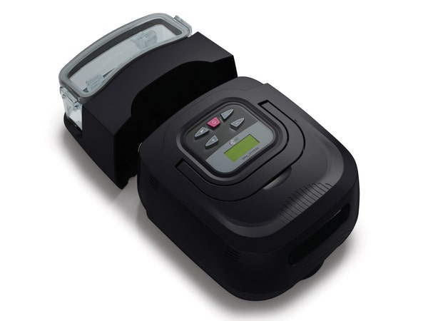 RESmart Auto-CPAP Machine Shown with Humidifier