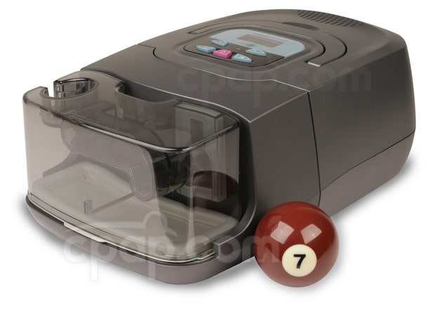 RESmart™ BPAP 25A Auto Bi-Level with RESlex™ and Heated Humidifier - Shown with Billard Ball (Not Included)