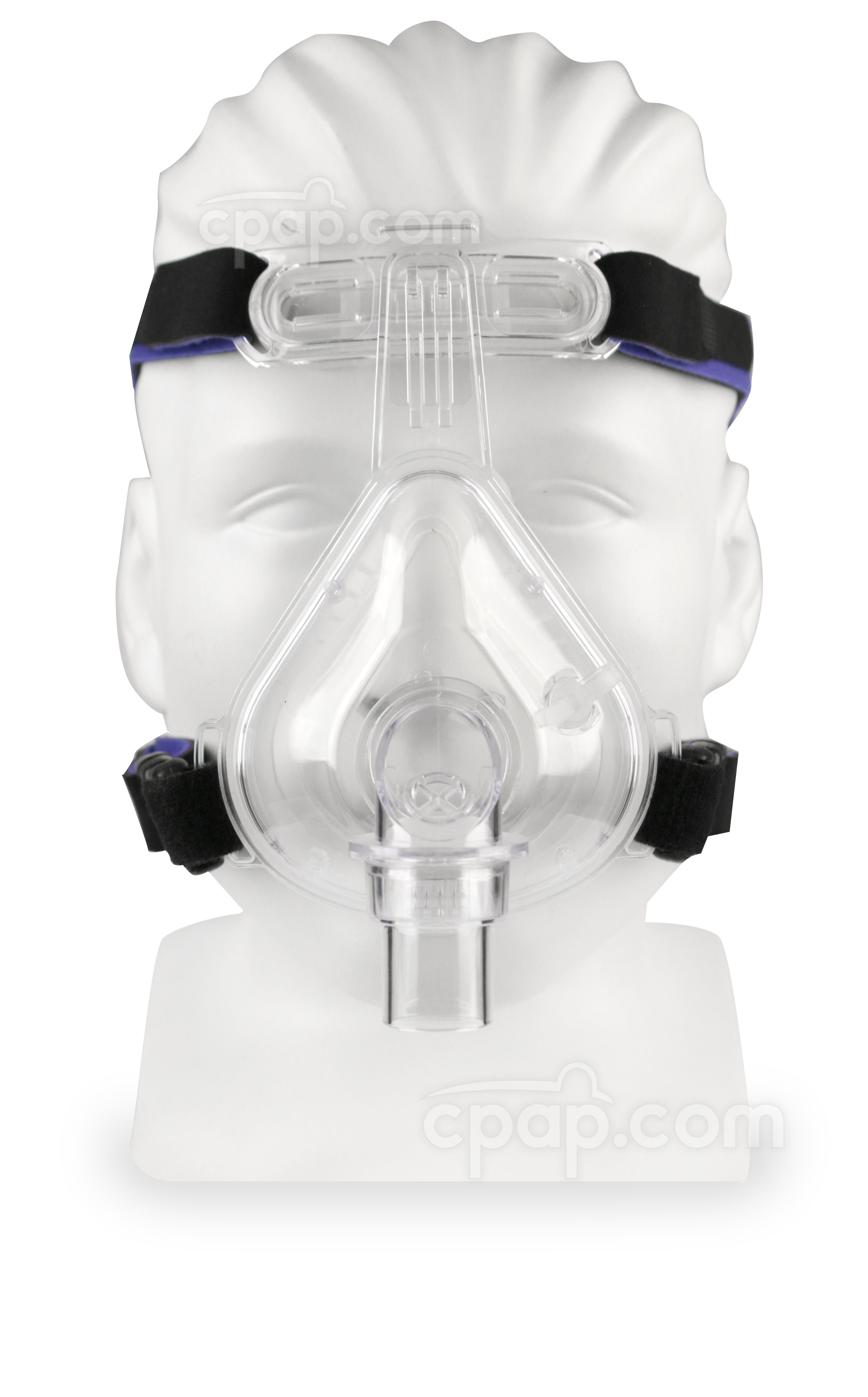Full Advantage Full Face CPAP Mask with 4 Point Headgear - Front - Shown on Mannequin - Not Included