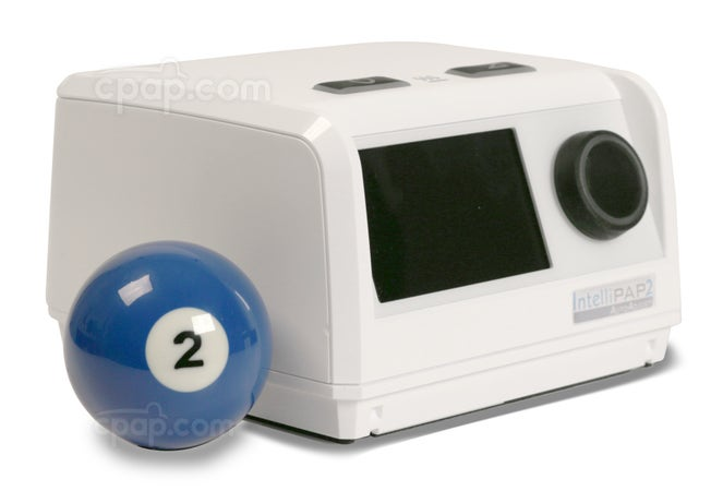 Profile View of the IntelliPAP 2 AutoAdjust Auto CPAP Machine with Billiard Ball (Billiard Ball Not Included)