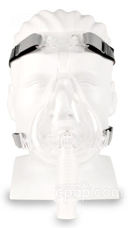 D100 Full Face CPAP Mask with Headgear - Front View (Mannequin Not Included)