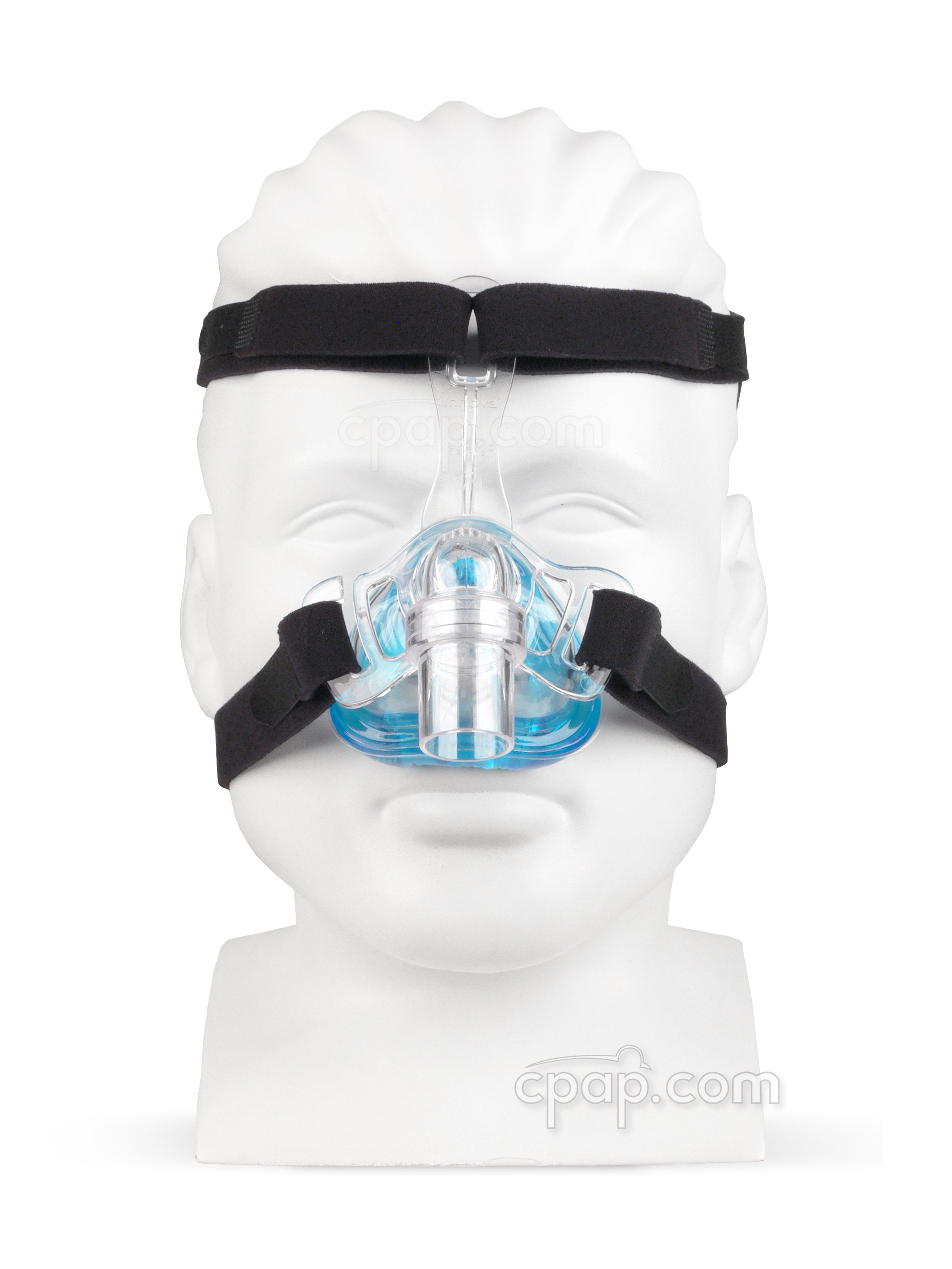 Innova Nasal CPAP Mask with Headgear - Front - Shown on Mannequin (Not Included)