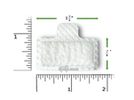 Product image for Disposable White Fine Filters WITH TAB for Respironics M Series Machines (6 Pack)