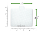 Product image for Disposable White Fine Filters for Respironics Solo, Solo LX, Solo Plus, Solo Plus LX, Remstar LX, Remstar Plus LX, Aria LX, Virtuoso LX (6 Pack)