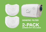 Product image for Generic Disposable Fine Filters for AirMini Travel CPAP Machine (2 Pack)