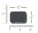 Product image for Reusable Black Foam Filters for IntelliPAP and IntelliPAP 2 CPAP Machines (1 Pack)