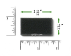 Product image for Reusable Black Foam Filters for M Series, PR System One, 60 Series and SleepEasy Series (2 Pack)