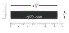 Product image for Reusable Black Foam Filters for Puritan Bennett Goodknight 318 (2 Pack)