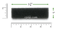 Product image for Reusable Black Foam Filters for Puritan Bennett Knightstar 330 (2 Pack)