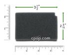 Product image for Reusable Black Foam Filters for Respironics Aria, Virtuoso, Duet, & Quartet (2 Pack)