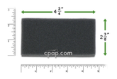 Product image for Reusable Black Foam Filters for Respironics Duet LX, BiPAP Pro, Synchrony, Synchrony ST, and Harmony (1 Pack)