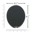 Product image for Reusable Black Foam Filters for Respironics Remstar, Remstar Choice, Remstar Choice LS (1 Pack)