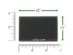 Product image for Reusable Black Foam Filters for Viasys Orion & Pegasus (2 Pack)