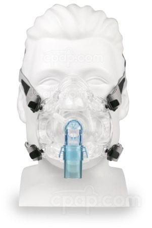 Quest Full Face CPAP Mask with Headgear - Front (Mannequin not Included)