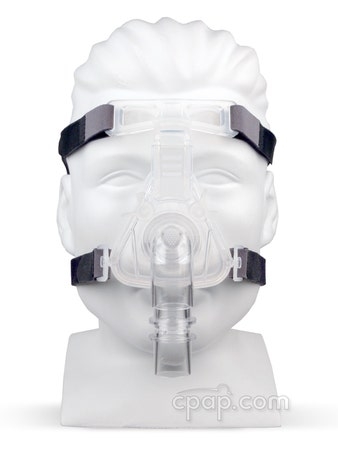 Sylent Nasal CPAP Mask with Headgear - Front on Mannequin