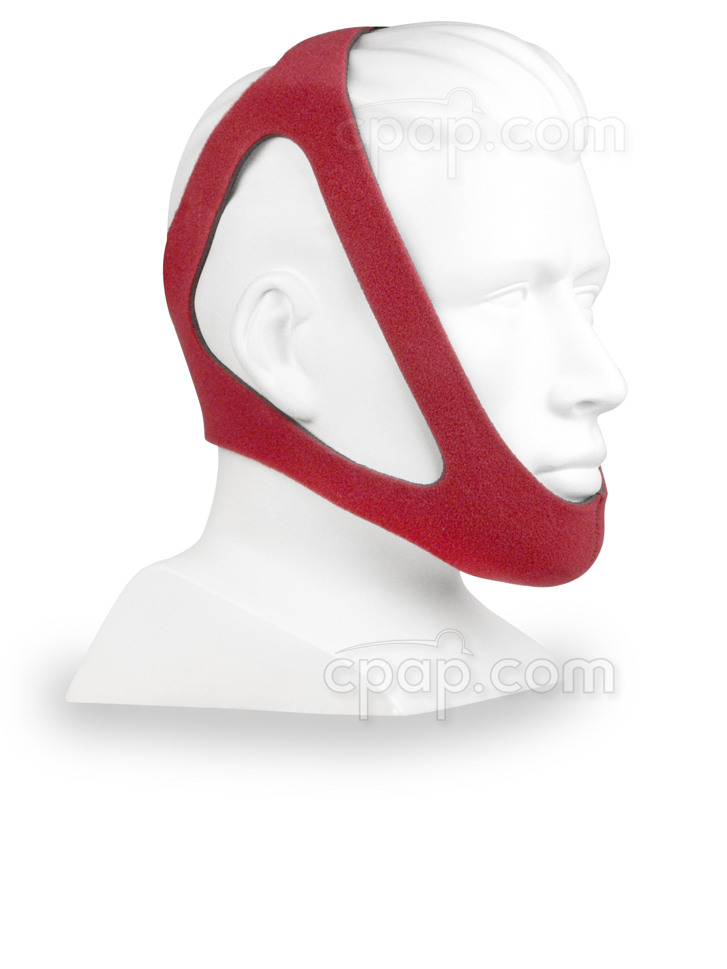 Ruby-Style Adjustable Chinstrap - Angled Front - Shown on Mannequin (Not Included)