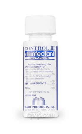Travel Sized Control III Disinfectant CPAP Cleaning Solution - 2 oz Concentrate