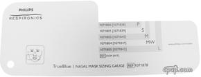 Product image for TrueBlue Gel Nasal CPAP Mask Sizing Gauge