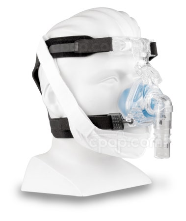Respironics Chinstrap White - Angled View (Mask, Headgear, and Mannequin Not Included)