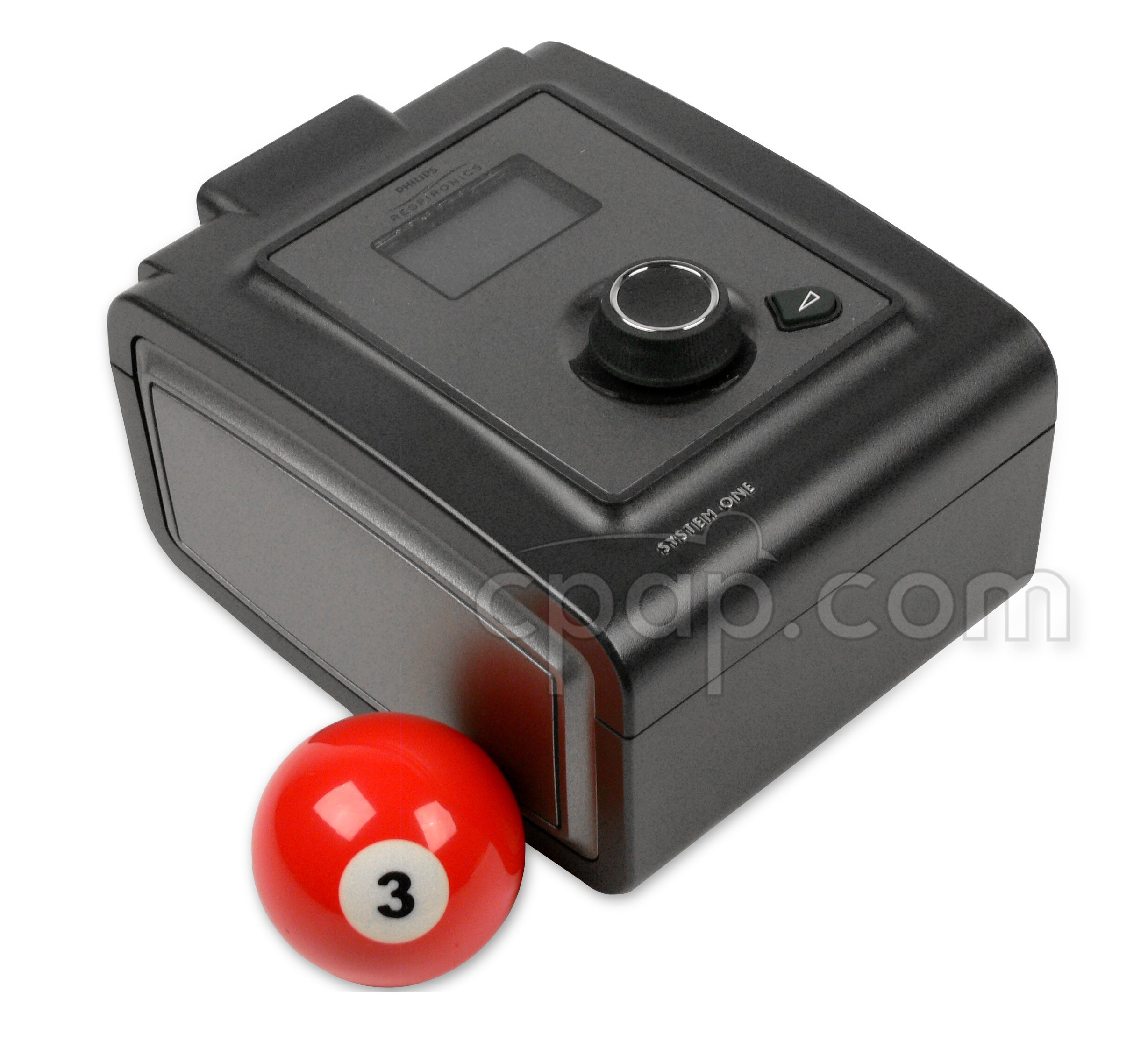 PR System One 60 Series Machine - angled front (billiard ball not included)