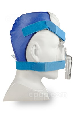 Blue Softcap Headgear - Side View (Mask and Mannequin Not Included)