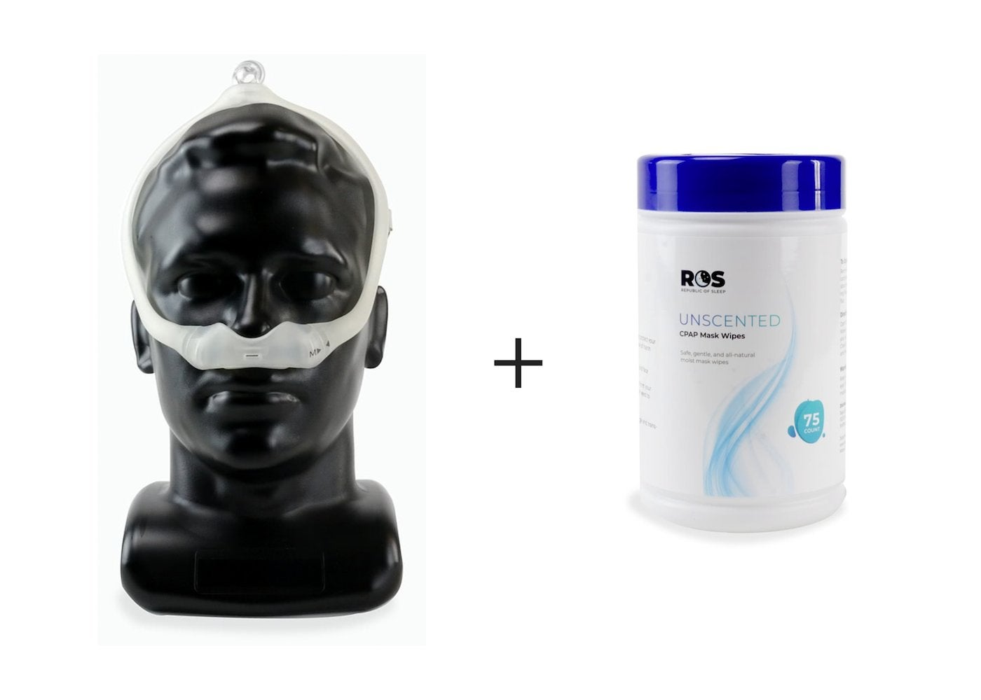 Includes DreamWear Nasal - Fit Pack and One Tube of Republic of Sleep Unscented Mask Wipes