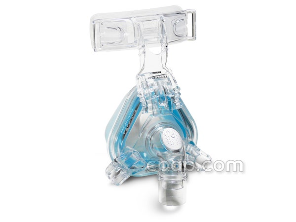 Respironics-ComfortGel-Blue-Nasal-CPAP-Mask-Frame-Profile
