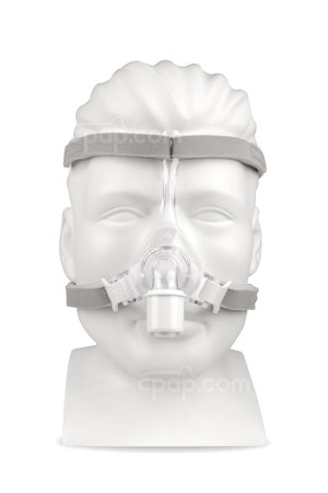 Pico Nasal CPAP Mask with Headgear - Front (Mannequin Not Included)