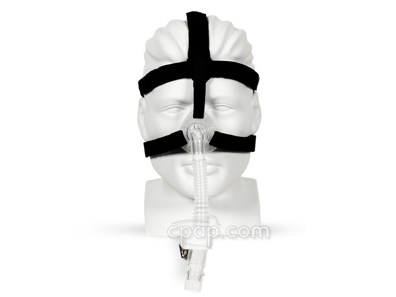 Simplicity Nasal CPAP Mask with Strap Headgear - Shown on Mannequin (Not Included)
