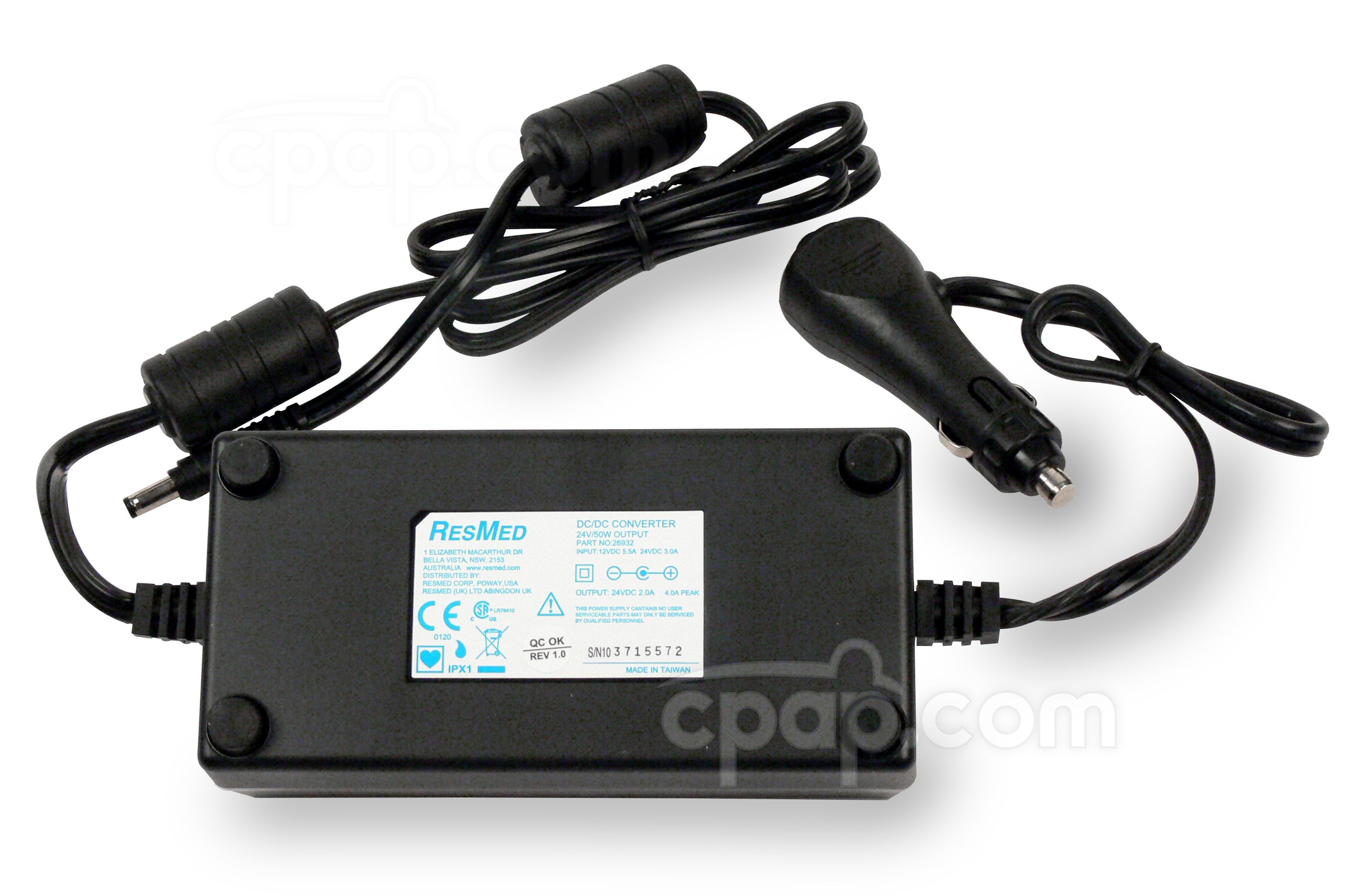 DC-24 Converter For ResMed VPAP Auto 25 and VPAP ST Machines