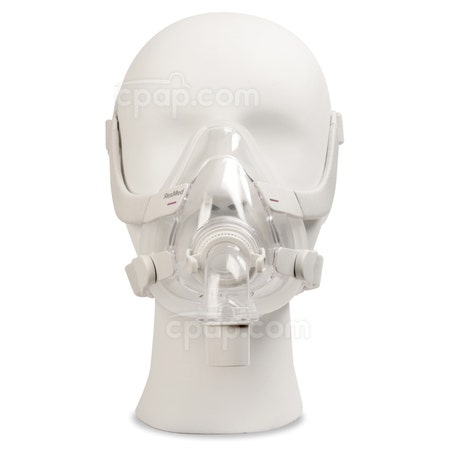 AirFit™ F20 For Her Full Face CPAP Mask with Headgear - Front View (Mannequin Not Included)
