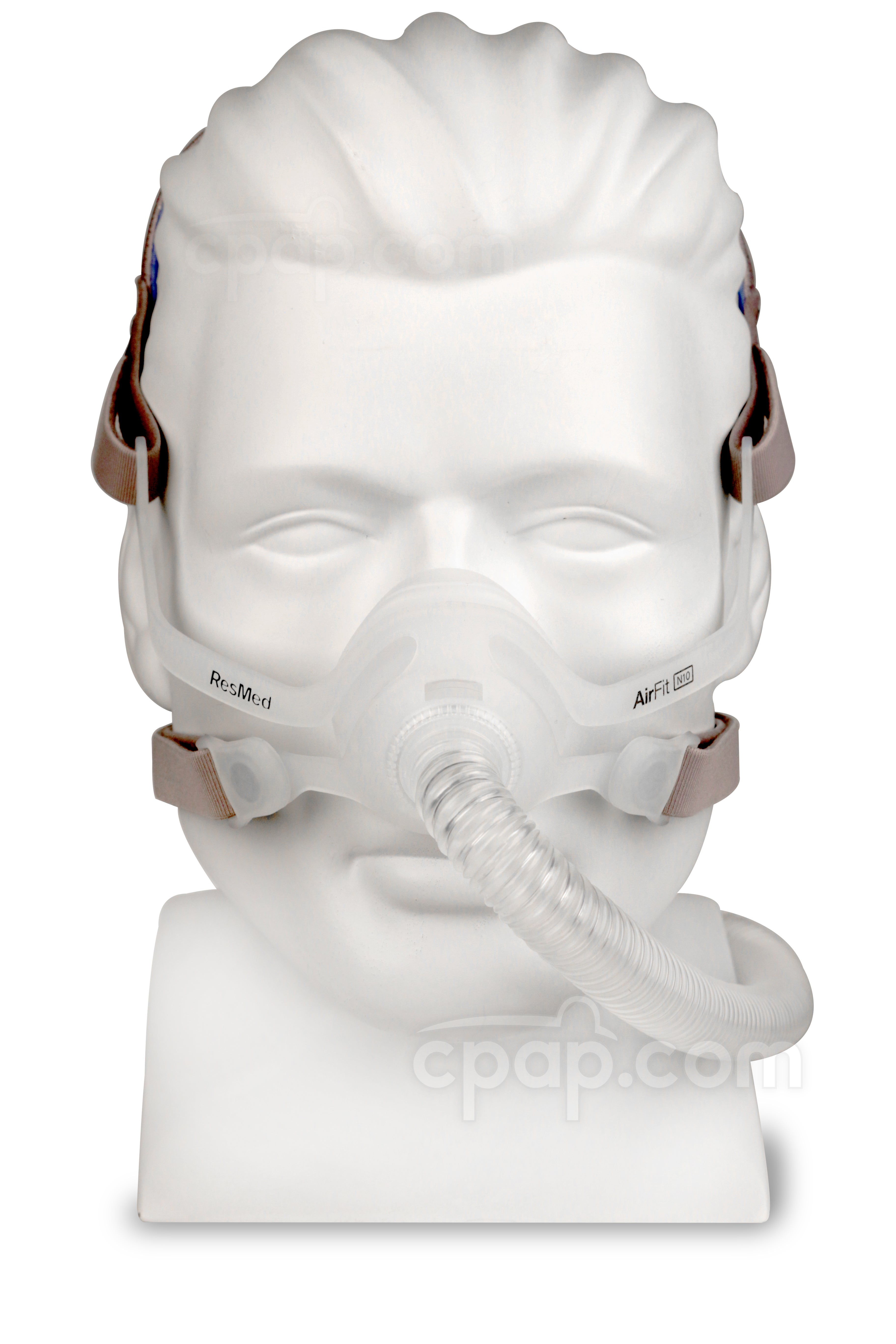 AirFit™ N10 Nasal CPAP Mask with Headgear - Front (Mannequin Not Included)