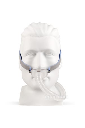 AirFit™ P10 Nasal Pillow CPAP Mask with Headgear - Front View (Mannequin Not Included)