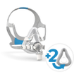 Product image for ResMed AirTouch™ F20 Mask with Headgear + 2 Replacement Cushions Bundle